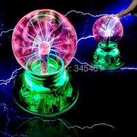 Novelty Lighiting USB Magic Ball Glass Static Plasma Ball Sphere Induced Lighting USB Cable Audio Control
