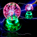 Novidade Lighiting-USB bola mágica Bola Esfera De Plasma De Vidro estática induzida controle de Iluminação + cabo USB + cabo de áudio + caixa de presente de luz mágica