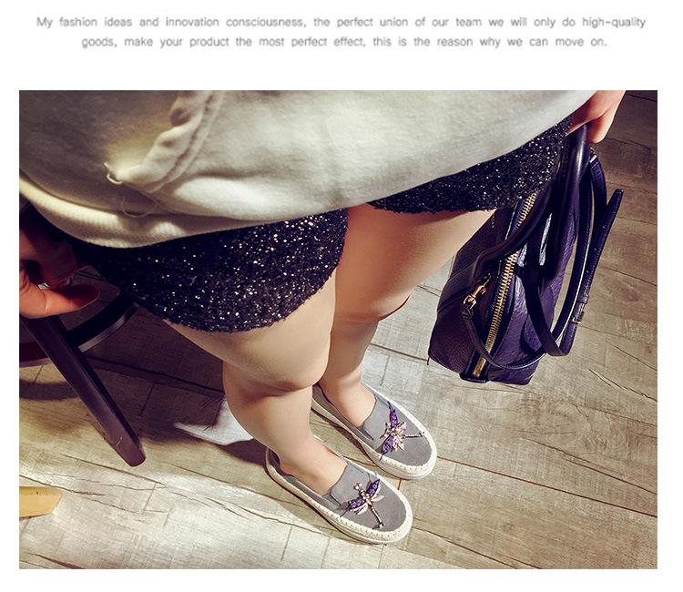 Big Size Women Platform Loafers Crystal Genuine Leather High Quality Pointed Toe Flats Shoes For Women Slipony Women Rhinestone  (12)