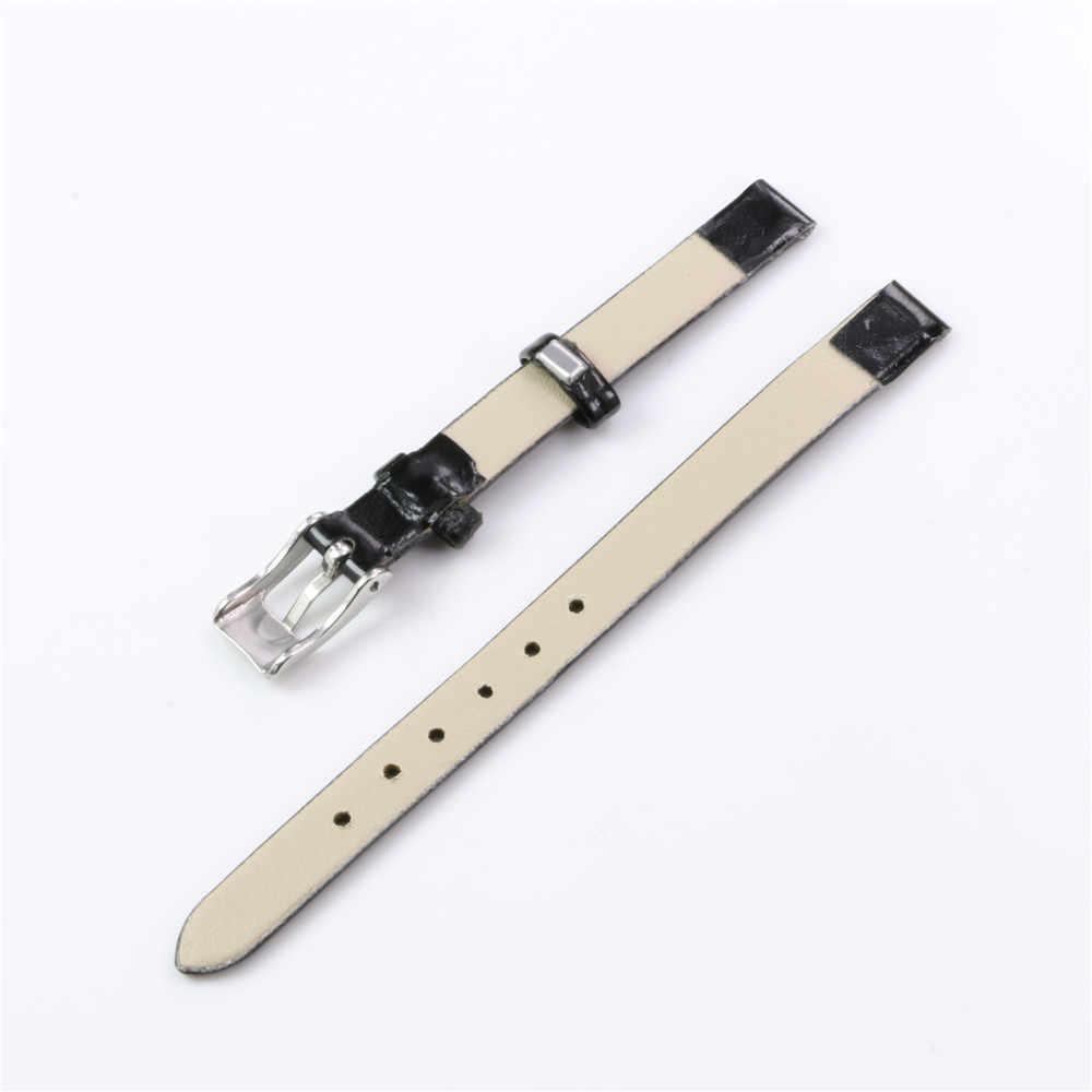 Cara Deng-Fashion Wanita Girls Multi-Warna Polos Faux Kulit Watchband Penggantian 8 Mm Wrist Watch Band Tali gelang-Y150
