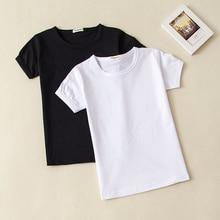 f59c5b319613 2018 Summer Girls Solid Color Short-Sleeve Tshirts Kids T-Shirt Baby Child  Cotton
