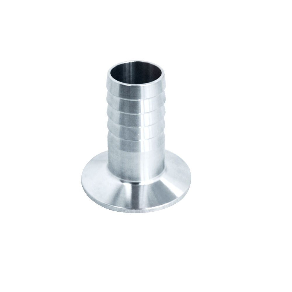 MEGAIRON 1OD 25mm Stainless Steel SUS SS316 Sanitary Hose Barb Pipe Fitting Ferrule OD 50.5mm fit 1.5 Tri Clamp