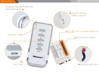 Wireless 1 Drag 5 Intelligent Lighting Remote Control Switch 220V Single Light Remote Control Multi Channel