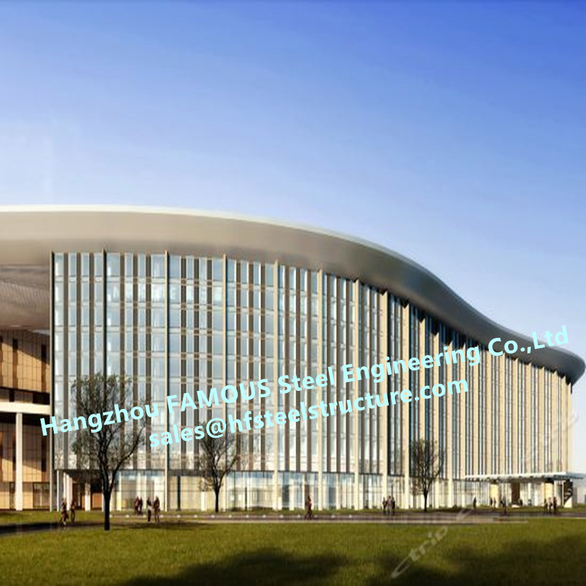 China EPC Project Modern Glass Curtain For Wall Exhibition Center With General Planning Design Construction