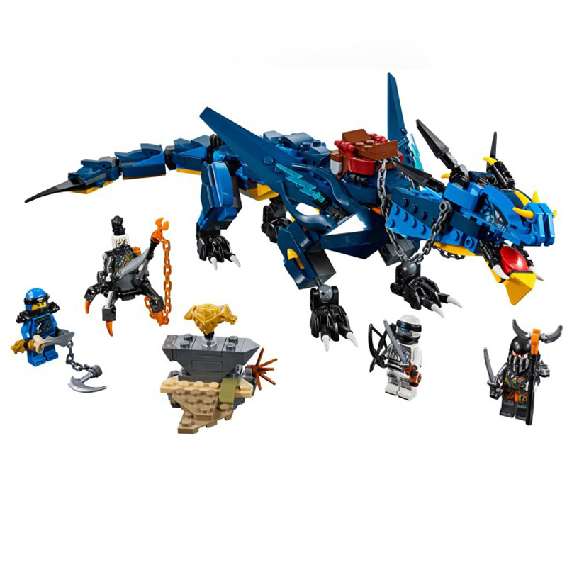 Ninja Series Stormbringer Set Dragon Compatible Legoings Ninjagoes 70652 Model Building Blocks Bricks Toys drop shipping