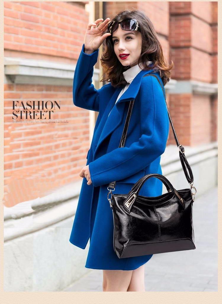 Women Oil Wax Leather Designer Handbags High Quality Shoulder Bags Ladies Handbags Fashion brand PU leather women bags WLHB1398 4