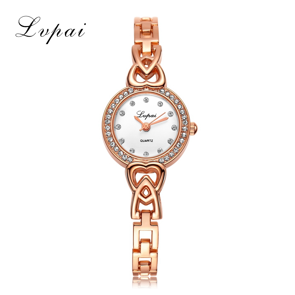 Lvpai Brand Fashion Luxury Watches Women Stainless Steel Rose Gold Quartz Watch Ladies Wristwatch Casual 2017 New Bracelet Watch 2016 new fashion women watch women wrist watch quartz watches analog stainless steel bracelet luxury gifts for ladies rose gold