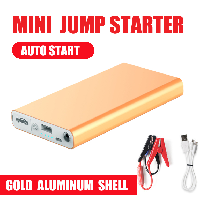 Aluminum shell Mini Portable 12V Car Battery Jump Starter Auto Jumper Engine Power Bank Starting  power bank(China)