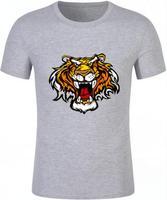 Tigre de fuego abierto boca novedad camisetas de Verano de Manga Corta Pantalones Azulejos T-shirt Tops Tees Ropa Inconformista