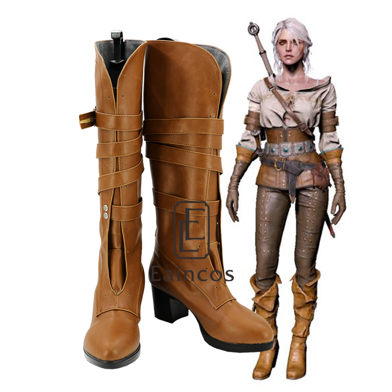 Game The Witcher 3 Wild Hunt Cirilla Fiona Elen Riannon Cosplay Halloween Party Shoes Ciri Boots