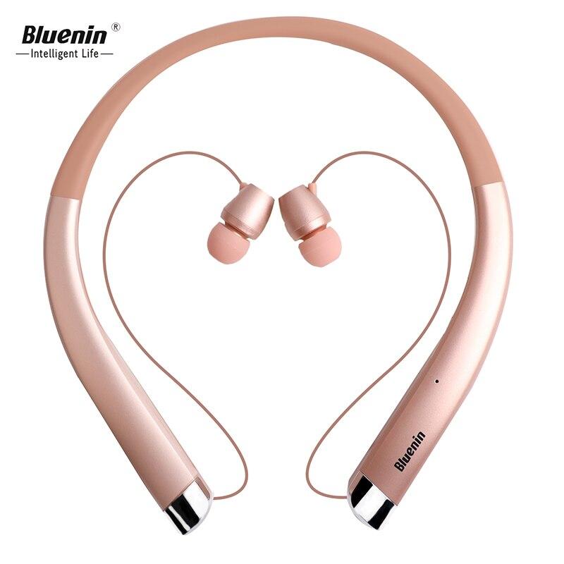 Bluenin Bleutooth Écouteur Neckband Sport Casque Sans Fil écouteurs avec Micro Rétractable Écouteurs Pour xiaomi hybride pro hd
