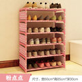 FREE shipping 5 Tier  Non-woven shoe rack shelves simple living room home decorations debris storage