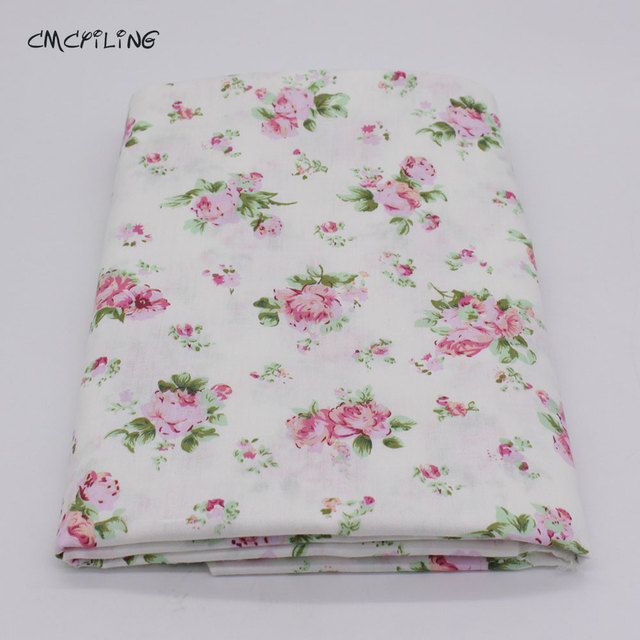 Printed Twill Cotton Fabric For Sewing Fl Tissue Baby Bedding Sheets Sleepwear Children Dress Skirt Material