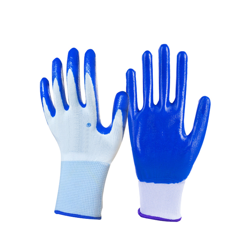 1Pair Hot Sale Nitrile Coated Working Gloves For Driver Worker Builders Gardening Protective Gloves