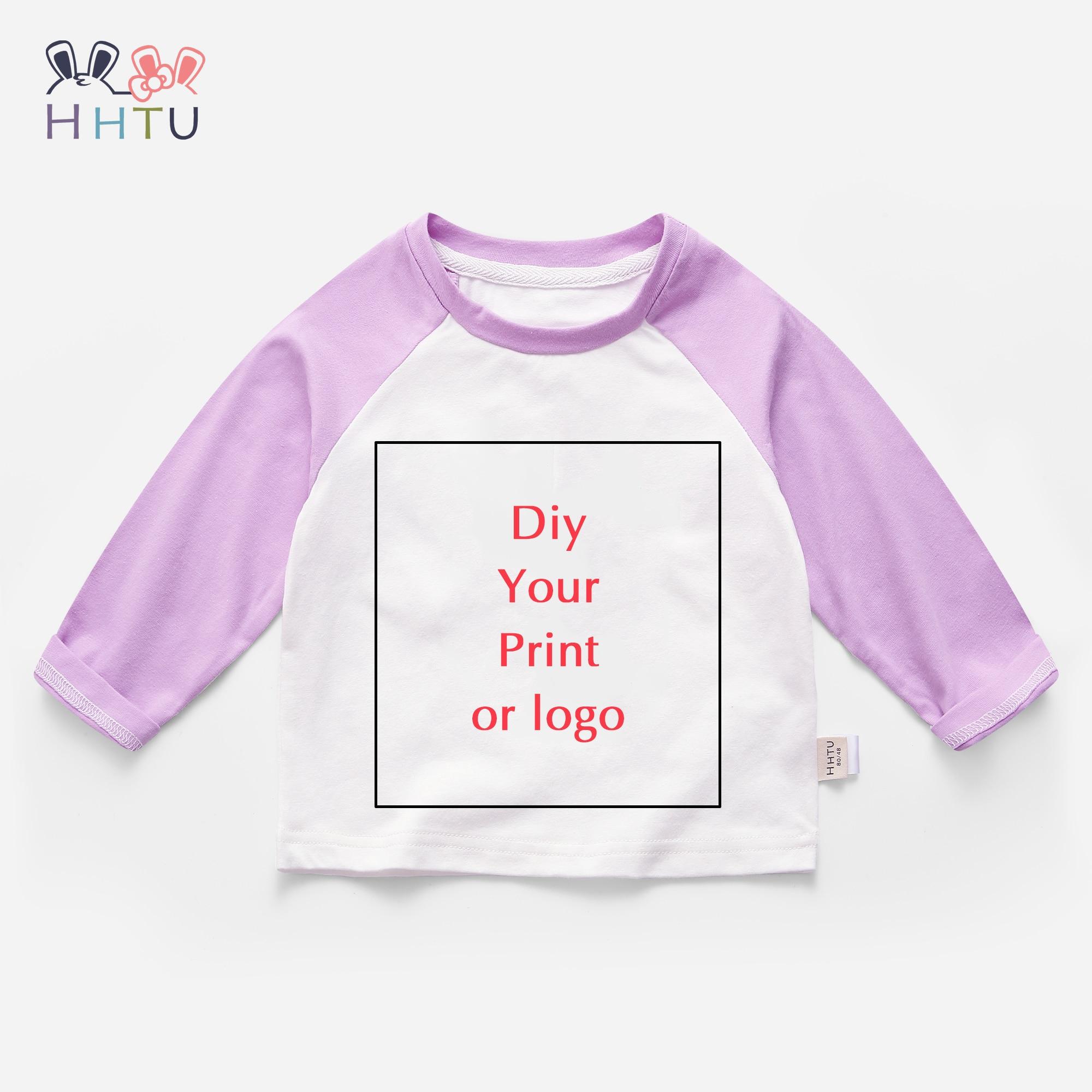 20Pcs Personalizado Logotipo Da Marca de Design de Impressão T-Shirt Para O Menino Gril/Imagem DIY Cotton Kid Crianças Tops Casuais roupas