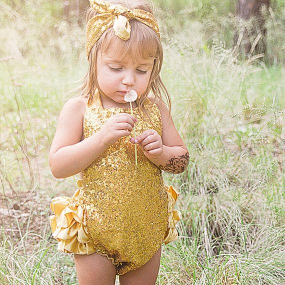 000f2e189b45 Pink Silver Green Gold Sequin Romper Princess Lace Romper First Birthday  Cake Smash Bubble Romper Milestone PhotoProp BabyShower