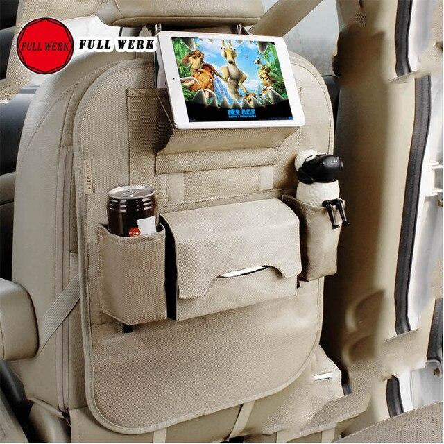 Luxo Assento de Carro de Volta Organizador Multi-Bolso Saco de Armazenamento de Viagem para Carros Caminhões Vans SUVs