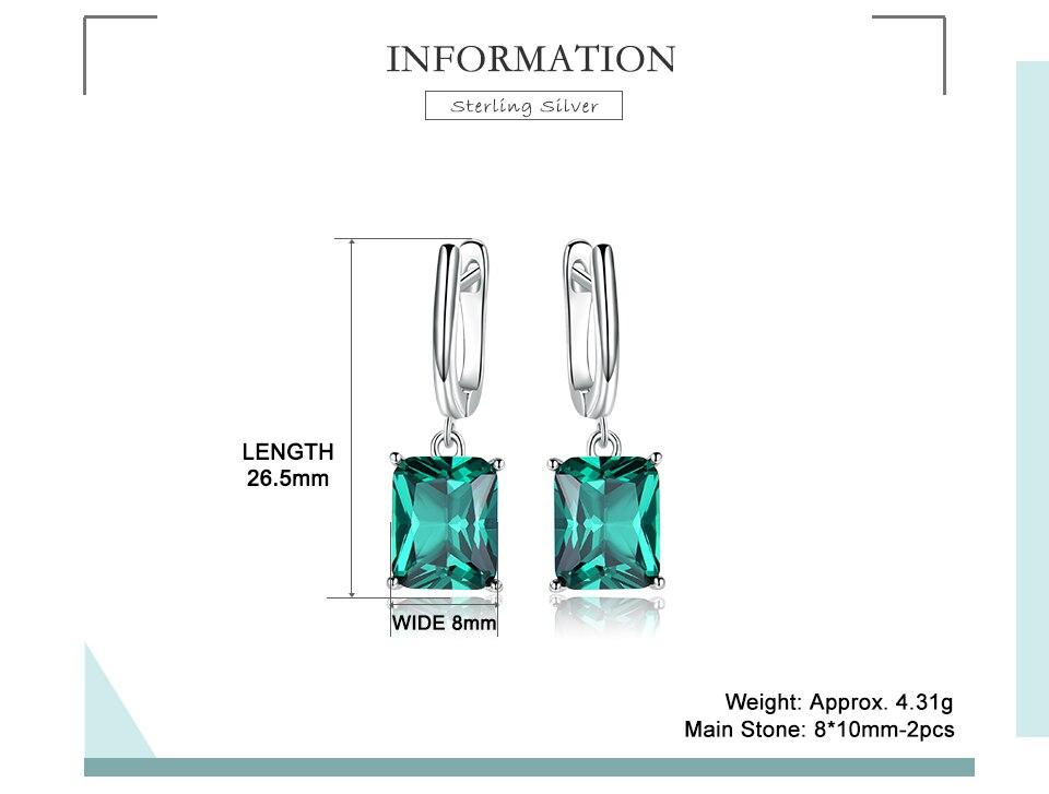 Honyy ??Emerald 925 sterling silver earring for women EUJ094E-1-pc (2)