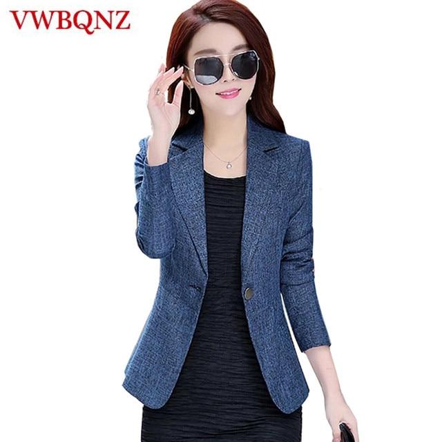 ce7550e7e93 2018 New Spring Autumn Plus Size 4XL Womens Business Suits One Button  Office Female Blazers Jackets Short Slim Blazer Women Suit