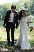 2018 Scalloped Romantic Wedding Dresses Lace Chapel Train Bridal Gowns Custom Made Bride Dress