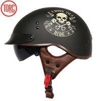 Torc T55 Motorcycle Helmet Motorbike Riding Half Helmets Retro Half Vintage Helmets Moto Motocicleta Capacete Casque