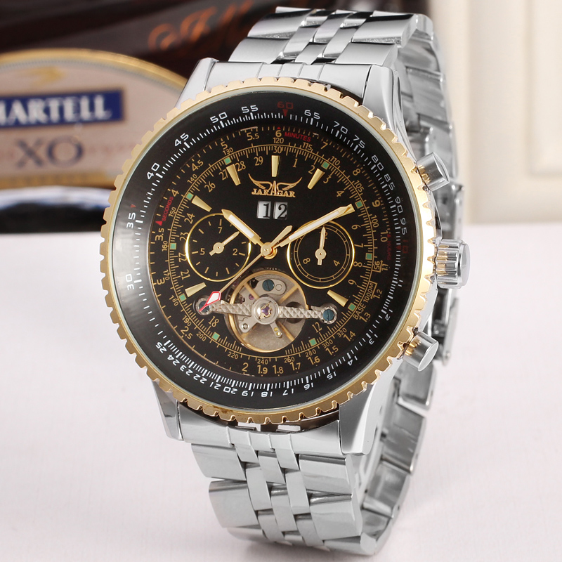 Jaragar Tourbillon Relogio Automatico Masculino Uhren Männer Voller Stahl Armbanduhr herrenuhr top-marke luxus schwungrad geschenk box