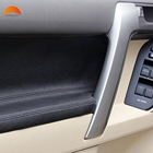 For Toyota Prado J 150 J150 2014 2015 2016 ABS Matte Front Armrest Panel Trim Door Handle Decoration Cover Accessories 2pcs