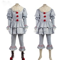 New Arrival Stephen King's It Pennywise Cosplay Costume Adult Men Clown Costume Suit Fancy Halloween Custom Made