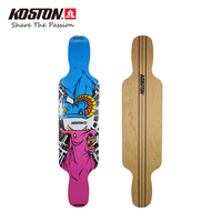 KOSTON Pro Carving Style Longboard Deck With 8ply Canada Maple Hot Air Laminated Long Skateboard Decks