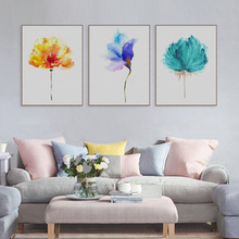 Modern Watercolor Beautiful Plant Flower Floral Rose Canvas A4 Art Print Poster Nordic Wall Picture Home Decor Painting No Frame