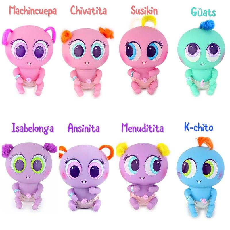 Original 8 estilo Ksimeritos Juguetes Casimeritos de las madres Primero feliz madres Día larga o de manga corta para bebés, muñeca de juguete recién nacido bebés accesorios Chivatita Juguetes para los niños