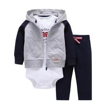 Sets 1 Hooded Zipper Coat + Pants + Romper Fashion Cotton 2019 Baby Boy Girl Clotheschildren Boys Cute Clothing Free Shipping