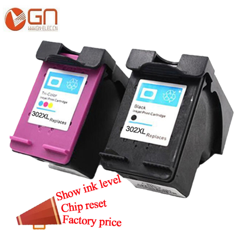 GN 302 XL tinte HP 302XL tintes kasetnei HP Deskjet 2130 1112 3630 3632 Officejet 4650 4652 4655 ENVY 4516 4520 printeris