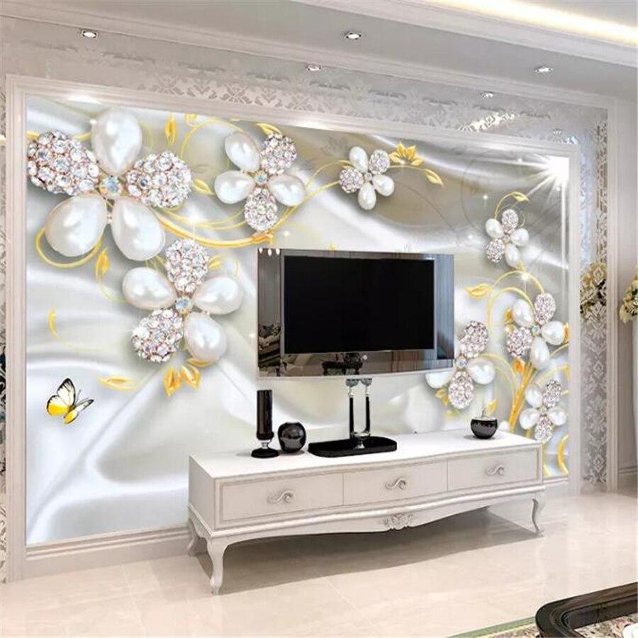 Us 8 85 41 Off Beibehang Custom Tapete 3d Schmuck Blumen Luxus Wohnzimmer Hintergrund Wand Papel De Parede Tapete Fur Wande 3 D Hause In Tapeten Aus