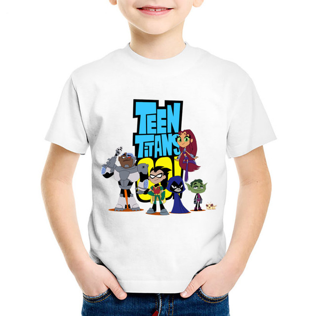 0c60c299 US $4.82 22% OFF|Cartoon Print Teen Titans Go Children T shirts Kids Summer  Funny Short Sleeve Tees Boys/Girls Casual Tops Baby Clothing,HKP5129-in ...