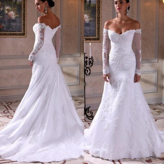 Aliexpress.com : Buy Off the Shoulder Lace Arabic Mermaid Wedding ...