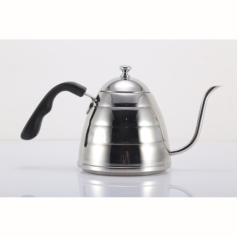 New 1pcs 900ml Pour In Coffee Teapot Kettle Gooseneck Boiler Boiler V60 Filter 304 Stainless Steel Teapot With Thermometer-in Coffee Pots from Home & Garden    1