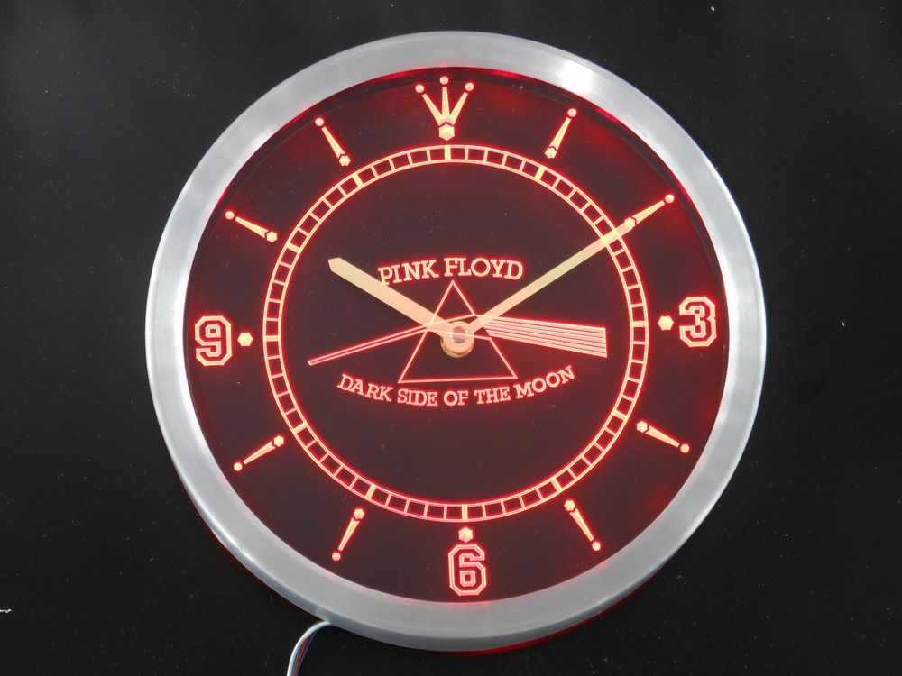 nc0146 Pink Floyd Rock n Rock Bar Neon Sign LED Wall Clock