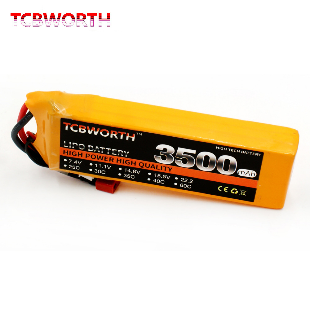 TCBWORTH 4S 14.8V 3500mAh 60C RC Drone Lipo battery For RC Airplane Quadrotor Helicopter Car Boat Li-ion battery tcbworth 11 1v 3300mah 60c 120c 3s rc lipo battery for rc airplane helicopter quadrotor drone car boat truck li ion battery