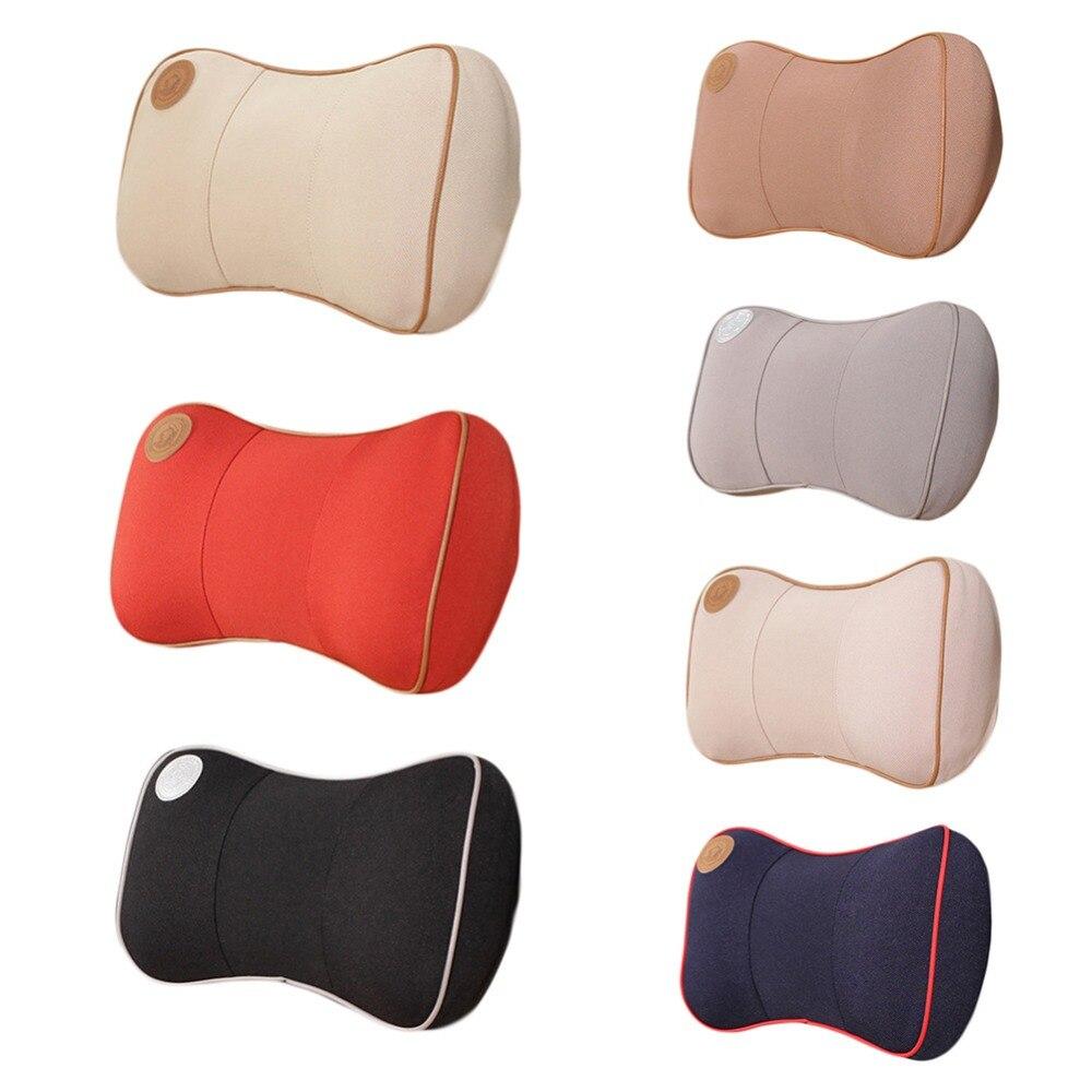Waterproof car neck rest pillow headrest pillows sofa lumbar seat cushion soft travel auto safety supplies