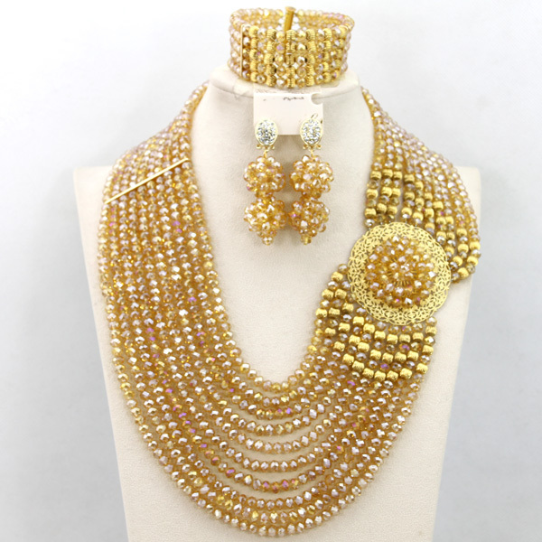 Gold Wedding Necklace Set Images Red African Jewelry New Dubai Indian Bridal Jpg