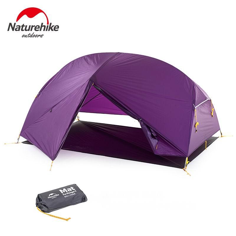 Naturehike Outdoor 2 3 Person 20D 210T Nylon Wasserdichte Outdoor-Zelt Aluminium Stange Ultraleicht Lila Camping Zelte PU4000mm Matte