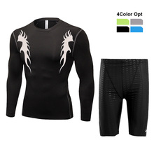 Men Boy Swim Top T Shirt Trunks Boxers Shorts Swimwear Short Pants SwimSuit Swimming Wear Long Sleeves for Beach Spa Pool 67hjj