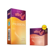 Zioxx Passion 12pcs Silicone-free Super Soft Male Condoms With/Without Teat End