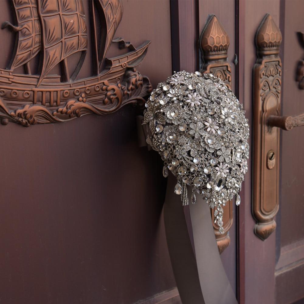 JaneVini Lyxiga Anpassade Smycken Silvervattenformade - Bröllopstillbehör - Foto 4