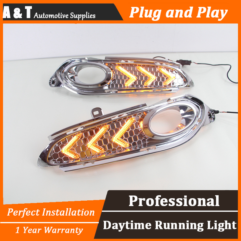 car styling For Honda Vezel HRV LED DRL For Vezel HRV led fog lamps daytime running light High brightness guide LED DRL for lexus rx gyl1 ggl15 agl10 450h awd 350 awd 2008 2013 car styling led fog lights high brightness fog lamps 1set