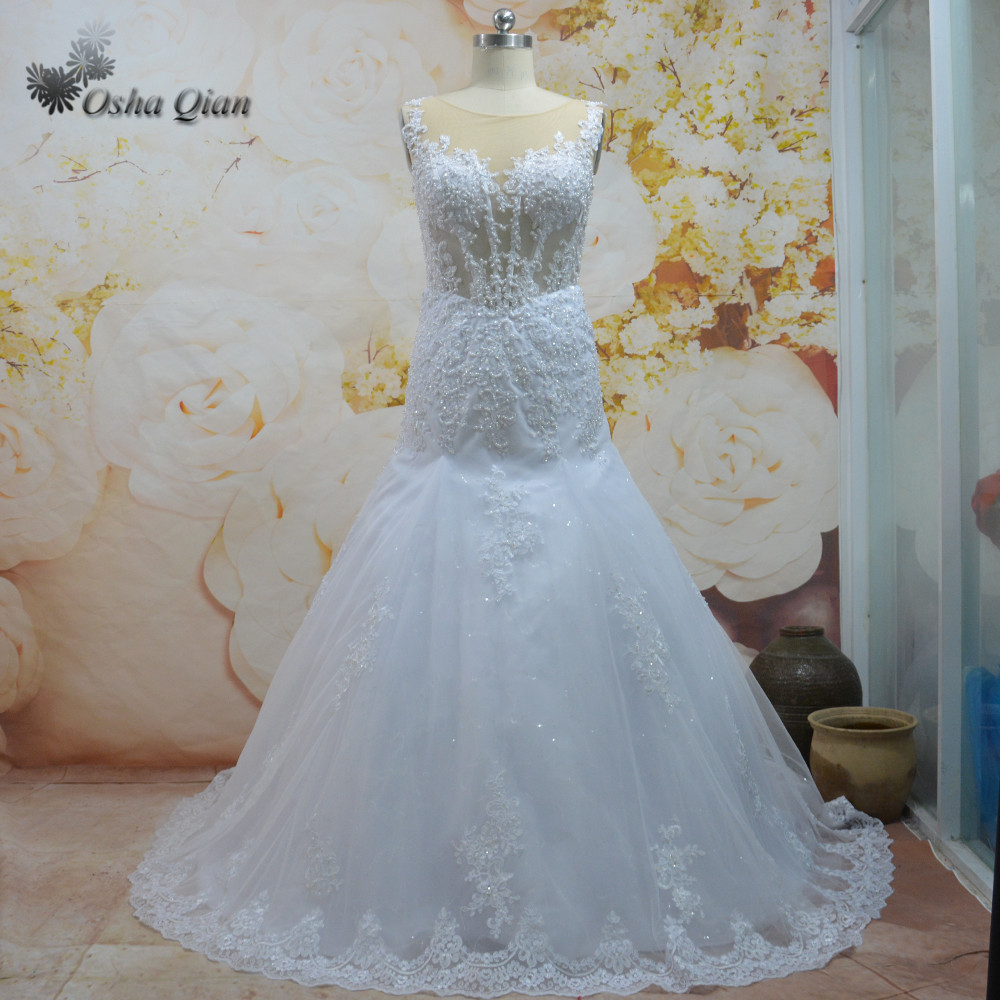 Elegant White Mermaid Wedding Dresses Turkey Summer Bridal