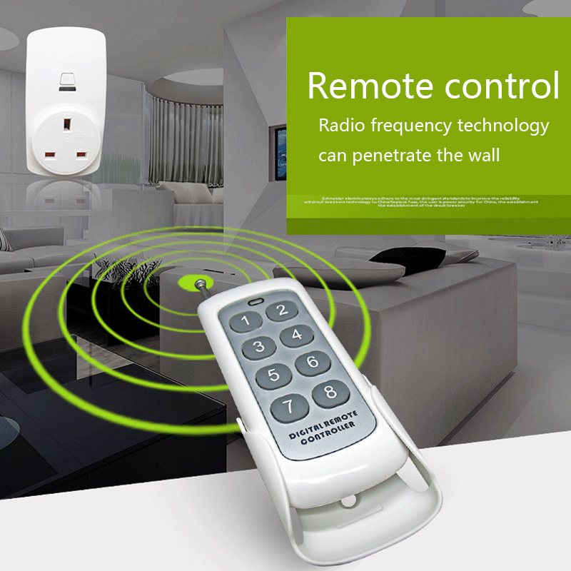 New arrival US Wireless remote control power socket rf 433mhz remote controller smart remote indoor power outlet plug smart home