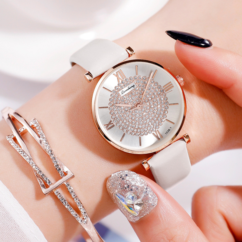 Luxury Women Watch Leather Starry Sky Belt Female Clock Quartz Wristwatche Fashion Ladies Bracelet Wrist Watch Relogio Feminino