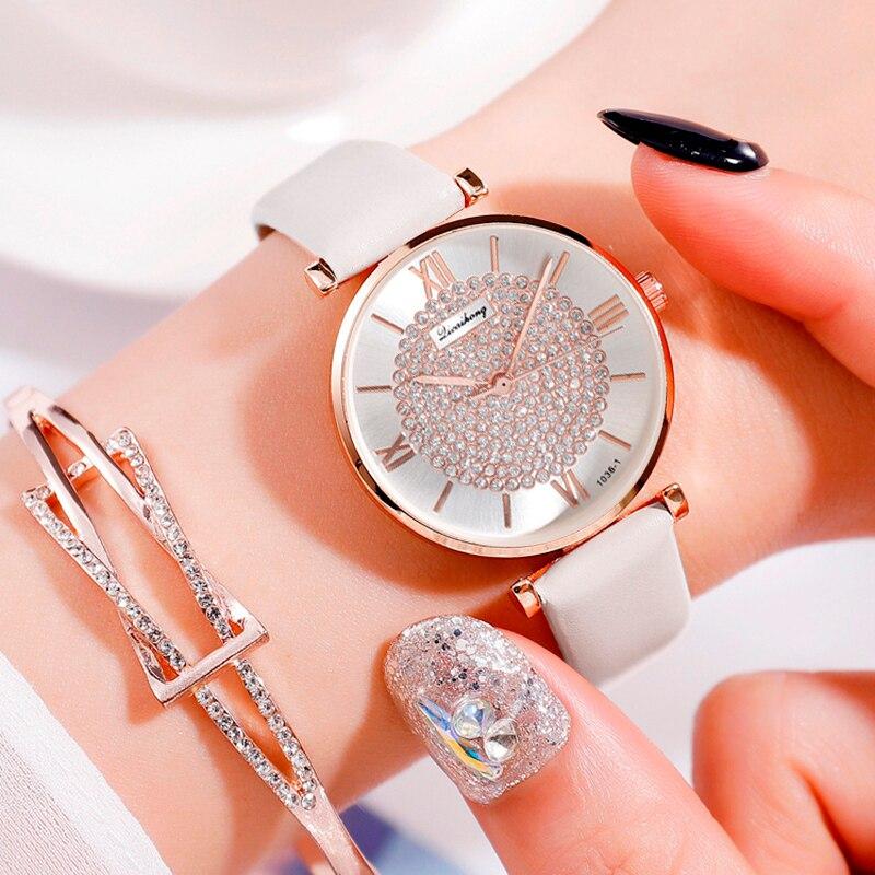 Luxury Women Watch Leather Starry Sky Belt Female Clock Quartz Wristwatche Fashion Ladies Bracelet Wrist Watch Relogio Feminino